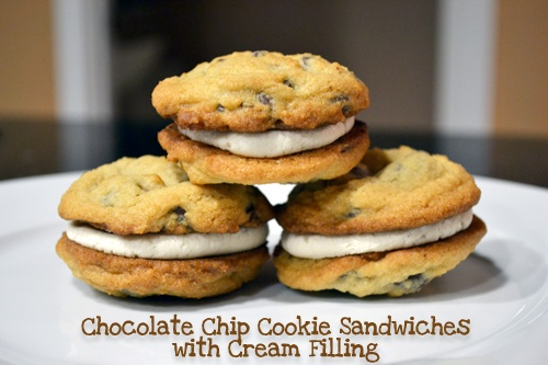... Before Dinner: Chocolate Chip Cookie Sandwiches with Cream Filling