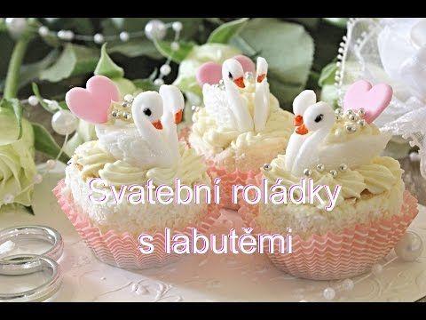 Svatební roládky s labutěmi / Helenčino pečení - YouTube