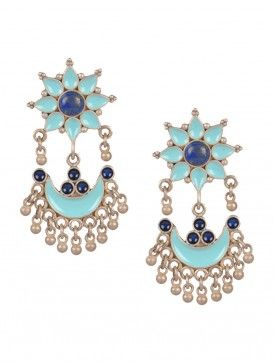 Lapiz Floret Meenakari Earrings