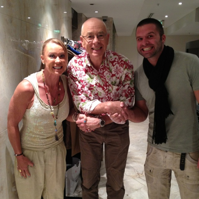 @Lisacurry_ and I with @DoctorKarl on @sunriseon7