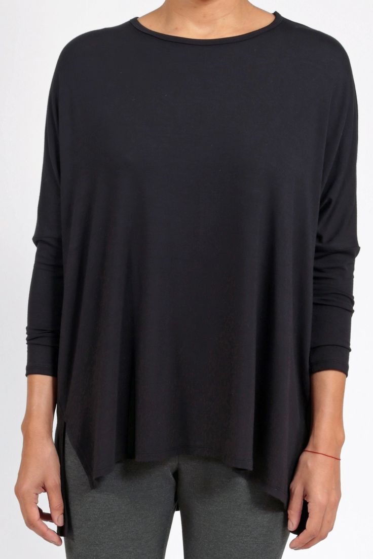 LUXE EASE TUNIC - Black