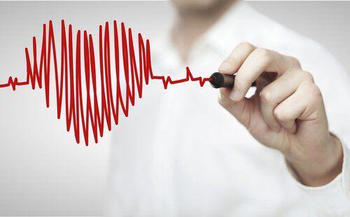 Corazón explicando riesgo cardíaco en la mujer