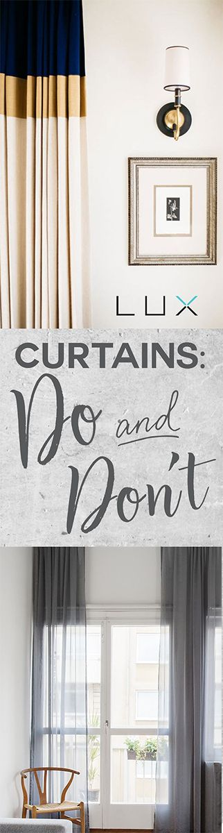 How to put up curtains. Do's and dont's on the blog!