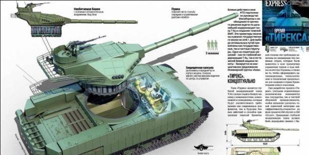 """Украинский ответ """"Армате"""": новейший танк """"Тирекс"""" превзойдет российскую военную машину - Общество на Joinfo.ua"""