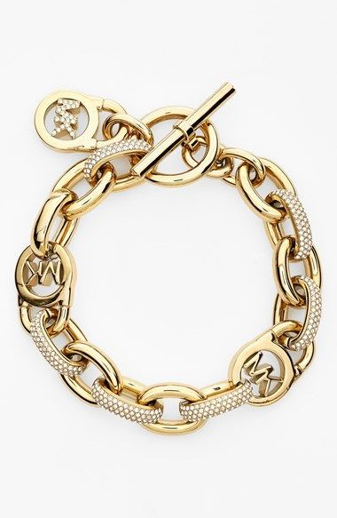 Michael Kors Link Bracelet available at #Nordstrom...want ittttt....