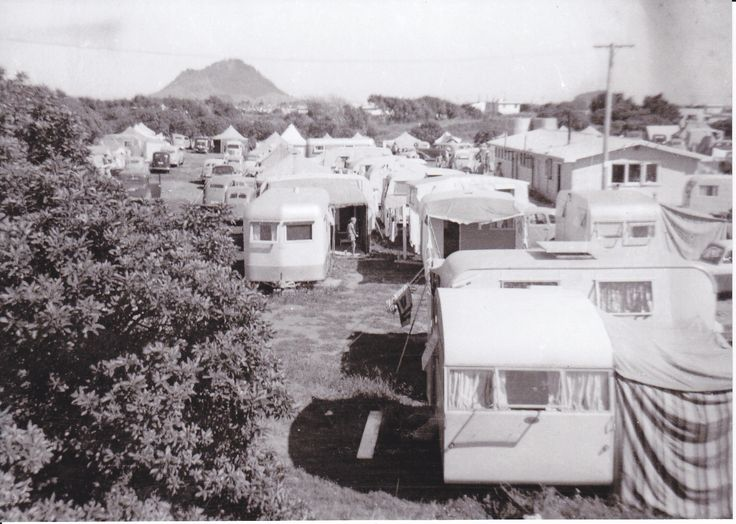Cosy Corner Holiday Park in 1957 - first year of operation Mt Maunganui, New Zealand