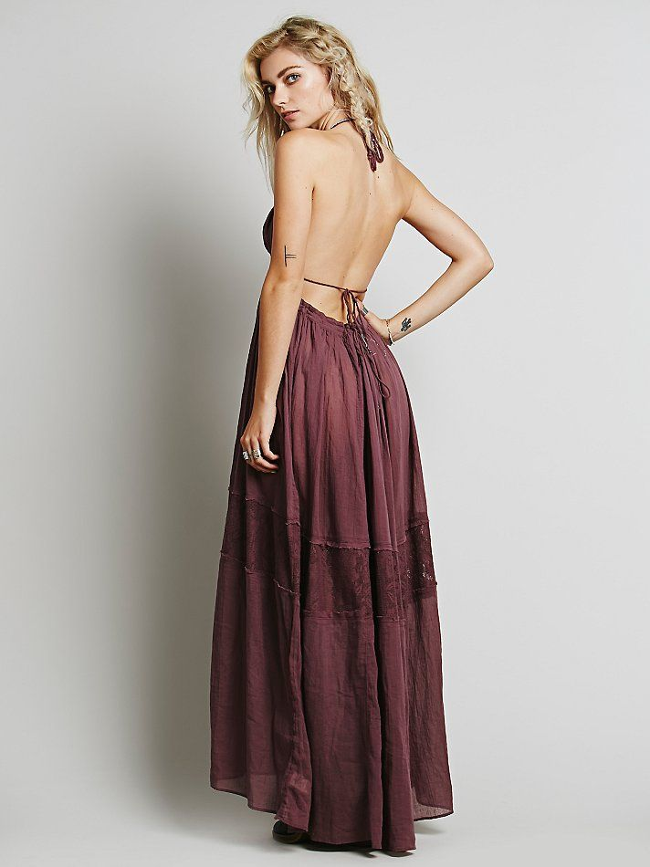 Beautiful fall color (in sunset orange) and drapes delicately over baby bump. Free People Endless Summer Triangle Top Maxi, $118.00