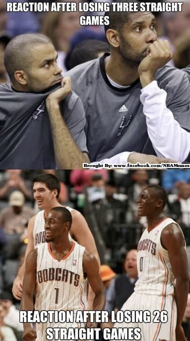 Is it just me, or is biyombo always smiling- he fouls, he smiles, he misses, he smiles, he loses, he is still smiling!