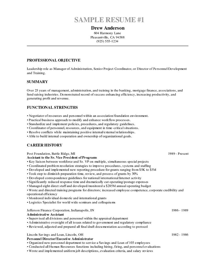 Best 25 Objective Examples For Resume Ideas On Pinterest | Resume .