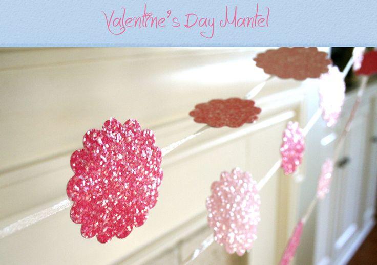 Pink Sparkle Valentine's Garland