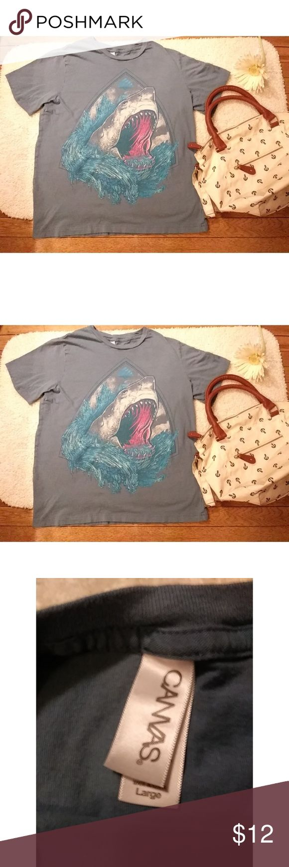 """Shroomtech Sport Jaws """"Shark week"""" t-shirt This is a unisex Shroomtech Sport t-shirt with a cool, fun picture of a shark. Great photo on t-shirt! Size: Large Underarms: 37"""" Length: 21.5"""" shroomtech sport Tops Tees - Short Sleeve"""