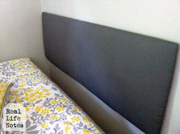 How to make a headboard out of foam board | Real Life Notes