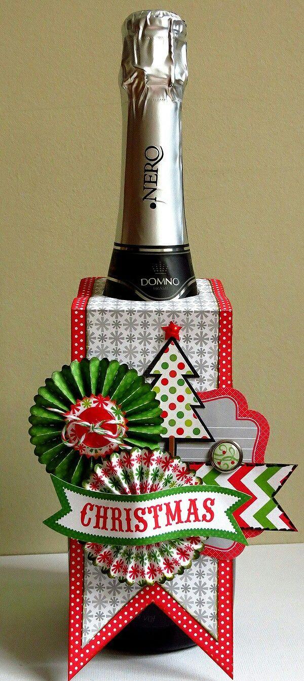 świąteczne etykietki na butelki