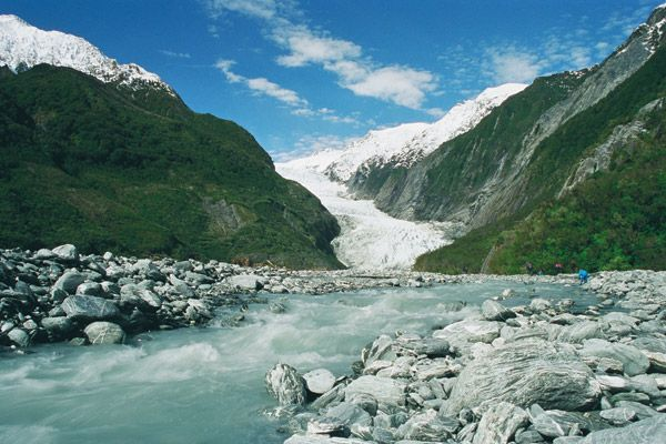 Franz Josef Glacier ~ saw this today minus the river ~ 17 June 2012