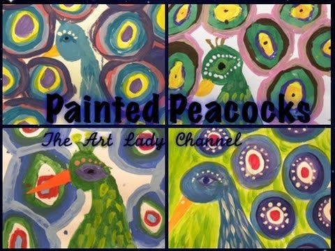 Peacock Painting 4th Grade - YouTube