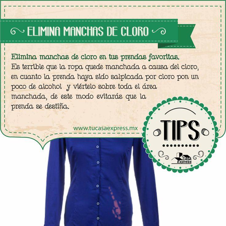 Elimina manchas de cloro con estos #TipsExpress.
