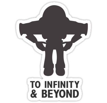 buzz lightyear to infinity beyond black stickers by glucern