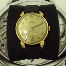 Vintage AMAZING STOWA Gold Plated 17 jewels mens watch 1960s!