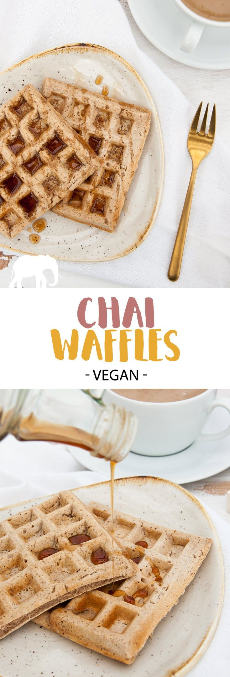 Vegan Chai Waffles via @elephantasticv