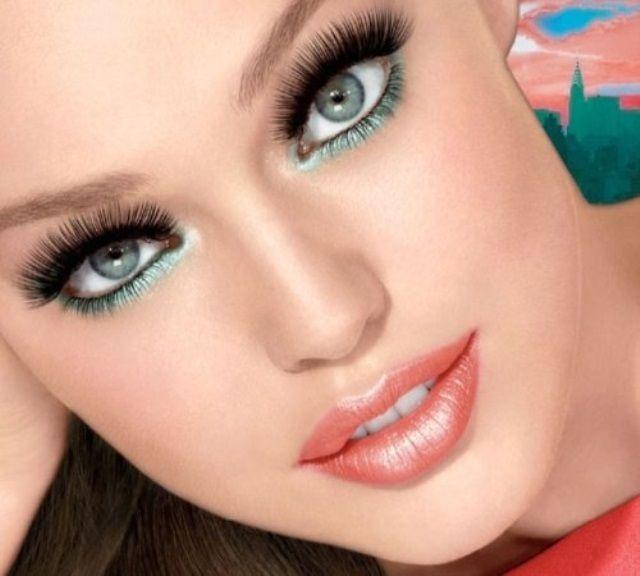 фото картинки макияж для серых глаз и русых волос фото провела