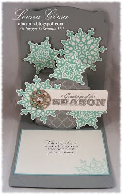 A La Cards: Playing with the Pop 'N' Cuts die and Festive Flurry bundle from Stampin' Up!