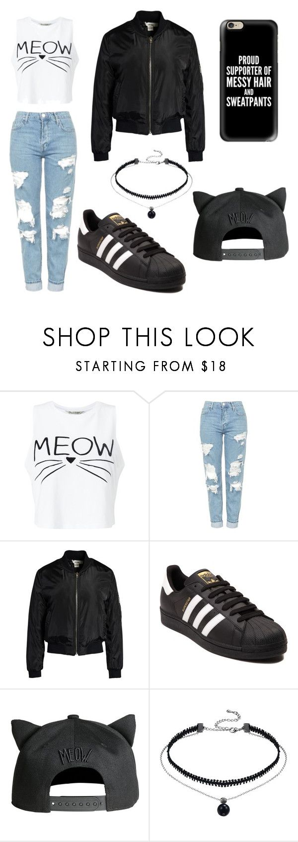 """Untitled #74"" by blackishappycolour ❤ liked on Polyvore featuring Miss Selfridge, Topshop, Sans Souci, adidas and Casetify"