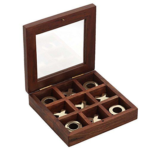 Noughts and Crosses Wooden Tic Tac Toe Game for Chidren 5 X 5 Inches ShalinIndia http://www.amazon.in/dp/B00Q6COWMS/ref=cm_sw_r_pi_dp_7C.Avb017SKX7