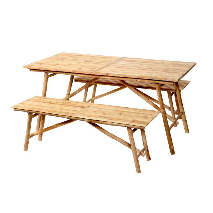 Bamboo Table & Bench Set | Black Friday