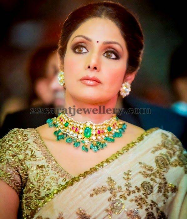 Sridevi Kapoor Gemstone Choker | Jewellery Designs