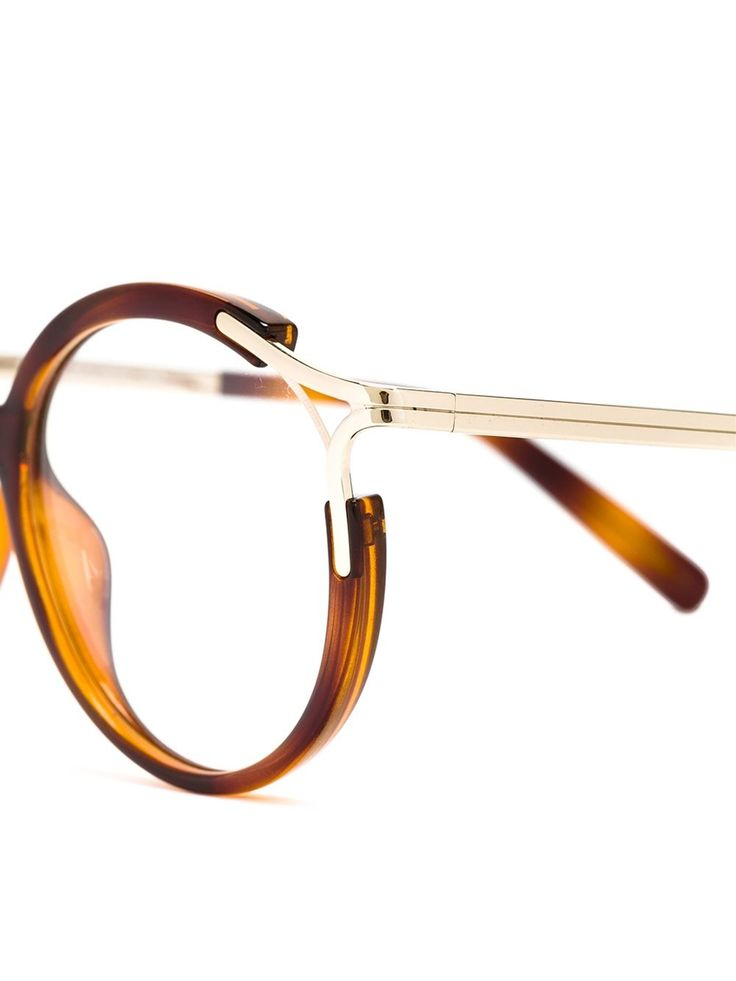 chlo chlo round frame glasses in multicolor brown lyst