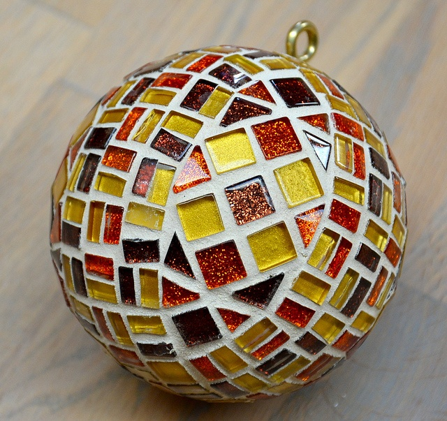 Christmas ball Laura Leon Mosaics, via Flickr