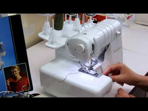 Close up look at the Baby Lock 8-Thread Serger Stitch - YouTube