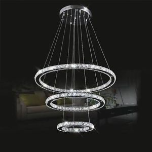 <b>Modern</b> LED Luxury <b>Crystal Chandelier</b> Ceiling Drop Hanging ...