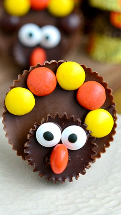 Reese's Turkeys ~ adorable Thanksgiving treats