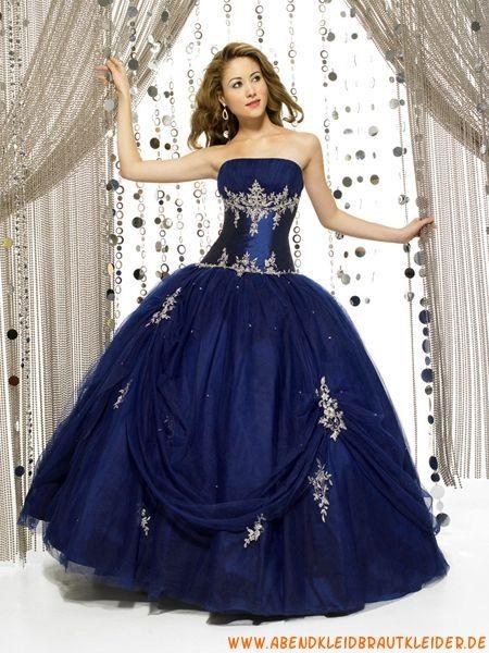 Luxuriöse Abendkleider für Prinzessin aus Taft mit Applikation Ballrock