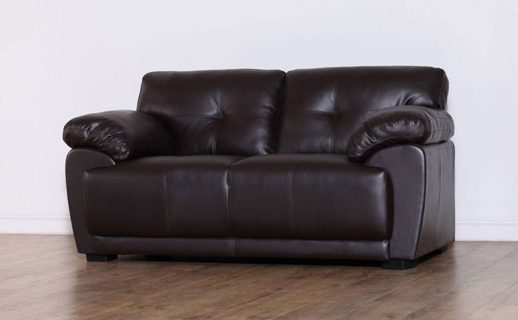 Sienna Brown 2 Seater Leather Sofa Only £299.99   Furniture Choice