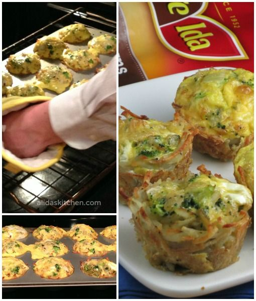 ... potatoes baked in a muffin tin and then filled with broccoli cheddar