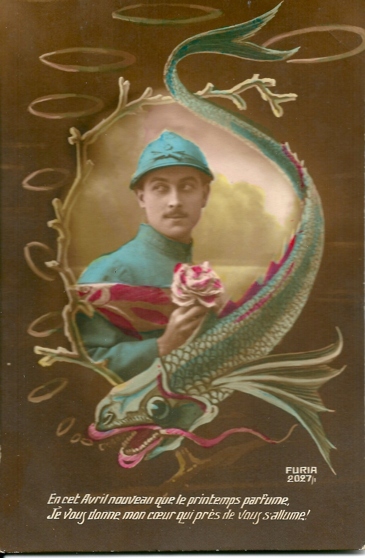 17 images about postcards poisson d 39 avril on pinterest for Donne poisson