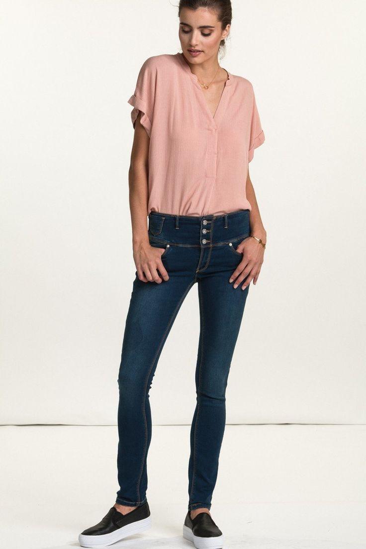 Floyd bukse Jenny E 211 dark blue mørkeblå denim jeans