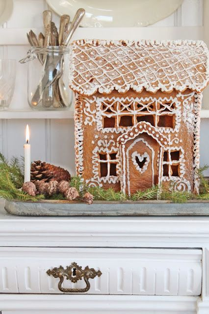 Beautiful little gingerbread house. VIBEKE DESIGN