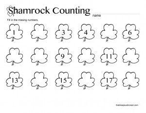 St. Patrick's Day Preschool Printable Worksheets
