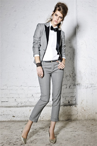DSquared2 Pre-Fall 2012 2013 - Love this! Very YSL inspired, but with an edge.