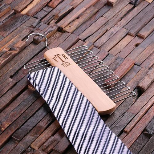 Personalized Tie Hanger - Monogram