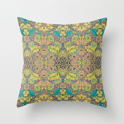 Blue Rose Throw Pillow by Geetika Gulia - $20.00