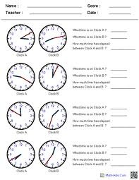 worksheets for telling-time word problems   kids   Pinterest ...