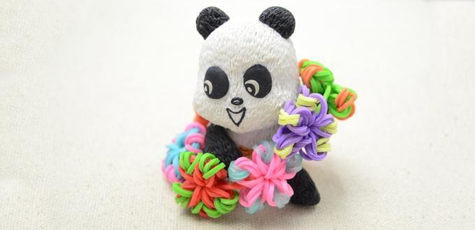 Easy DIY Instruction on Making a Candy Color Loom Flower Bracelet