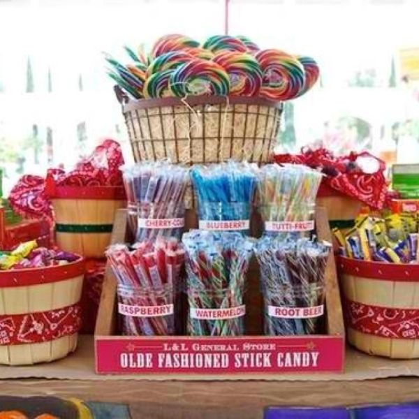 Country Store for son's school fall festival theme - love this idea of individually wrapped candy to sell