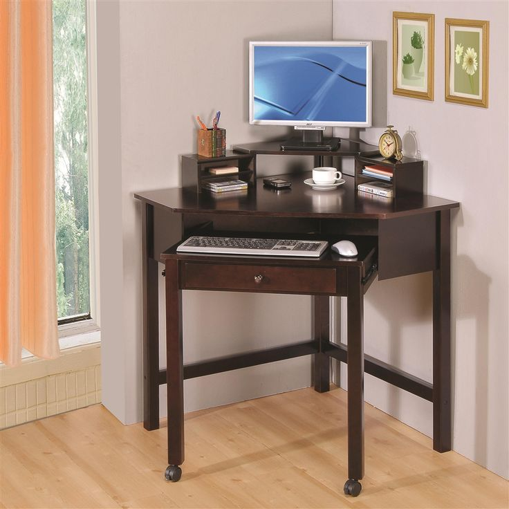 this beautiful corner desk boasts of one drawer u0026 desktop storage units front roller for easy sliding casters on the front two legs and