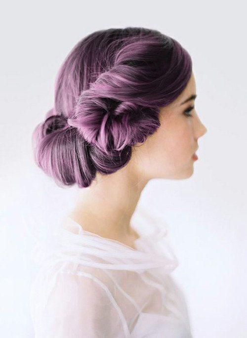 Purple up-do