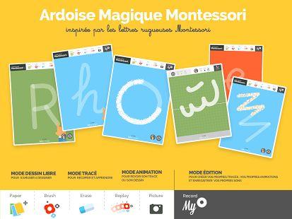 MONTESSORI ARDOISE MAGIQUE Application